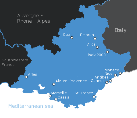 Map Of France French Riviera.Provence Alps French Riviera Essential Europe Travel